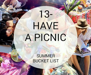 bucket, list, and picnic image