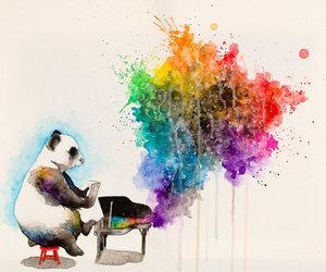 panda and piano image