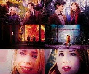 doctor who, rose tyler, and amy pond image