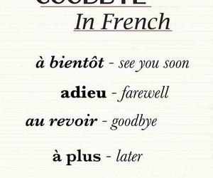 french, goodbye, and language image