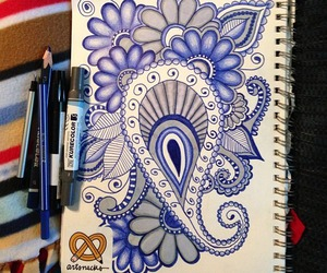 art, purple, and doodle image