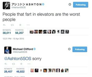 funny, twitter, and 5sos image
