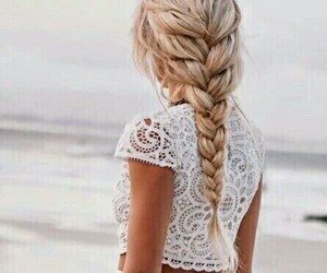 blond, braid, and perfect hair image