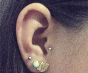 earring, piercing, and tragus image
