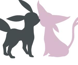 black, eevee, and pokemon image