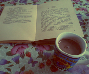 book, coffee, and aftenoon image