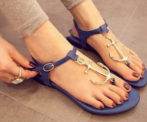 blue, fashion, and sandals image
