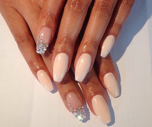 nails, diamond, and Nude image