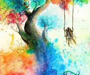 colors, art, and tree image