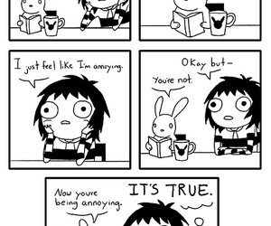 funny, sarah andersen, and annoying image