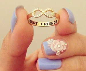 ring, best friends, and nails image