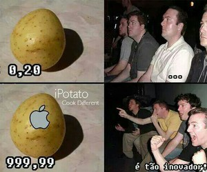 apple, capitalism, and potato image