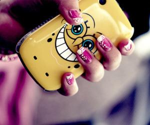 nails, spongebob, and phone image