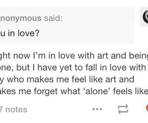 art, lonely, and are you image