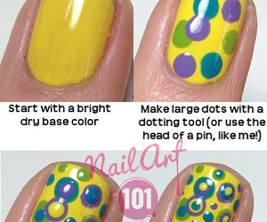diy, dots, and nail art image