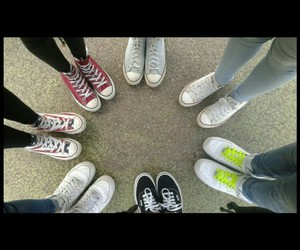 all star, trendy, and vans image