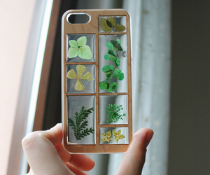 iphone, case, and plants image