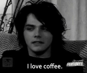 mcr, coffee, and gerard way image