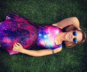 dress, fashion, and galaxy image