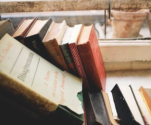 book, vintage, and window image