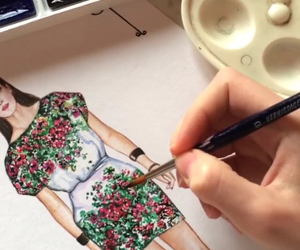drawing, dress, and doll-memories image