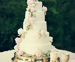 cake, pink, and white image