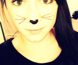 cat, whiskers, and holloween image