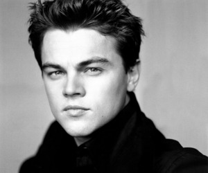 leonardo dicaprio, Leo, and black and white image