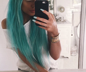 blue, fashion, and kylie jenner image