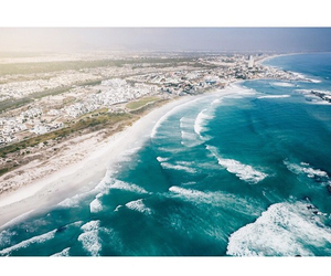 beach, cape town, and sea image