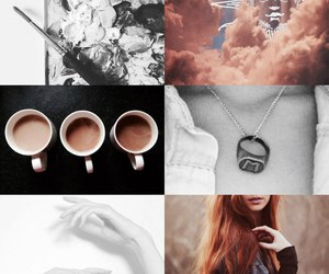 Collage, readhead girl, and photo selection image