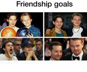 goals, friends, and friendship image