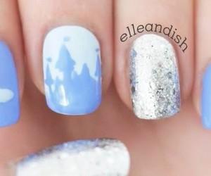 nails, nail design, and cinderella image