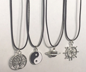 grunge, necklace, and pale image