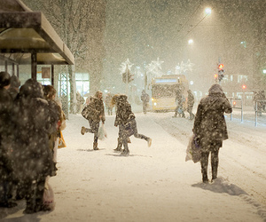 snow, winter, and people image
