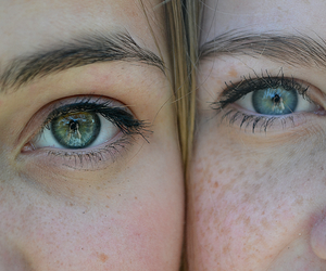 best friends, eyes, and summer image
