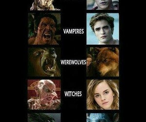 vampire, witch, and werewolf image