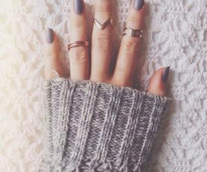 nails, rings, and sweater image
