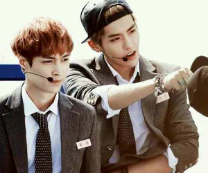 exo, lay, and kris image