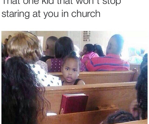 funny, church, and kid image