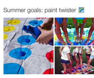 summer, friends, and paint image