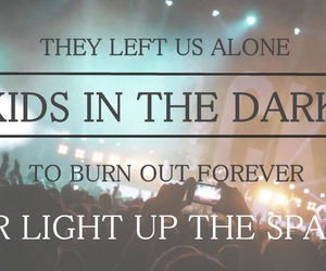 all time low, Lyrics, and kids in the dark image