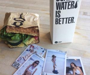sandwich, food, and polaroid image
