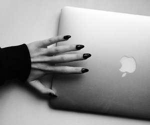 apple, black, and nails image