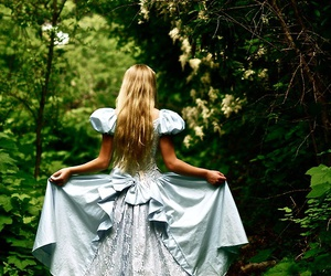 alice, nature, and alice in wonderland image
