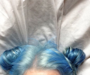 bambi, space buns, and blue image
