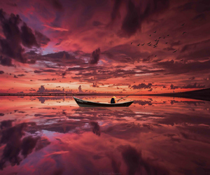 boat, heaven, and pink image