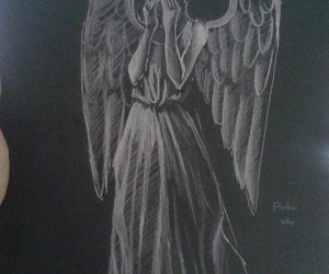 doctor who, weeping angel, and don't blink image