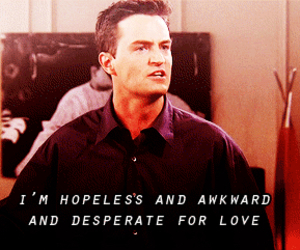 chandler bing, friends, and love image