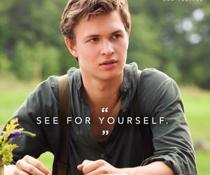 insurgent, divergent, and ansel elgort image